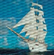 ALD/A01/3x/13025R Панно Майори Корабль обрезной 90х90х11