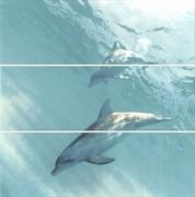 HGD/A55/3x/12093R Панно Искья Дельфины обрезной 75х75х9