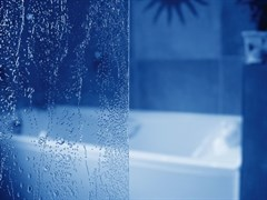 шторки для ванн VS3 100 сатин + Раин