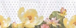 HGD/A56/4x/8259 Панно Летний сад светлый, панно из 4 частей 20х30 (размер каждой части) 80х30х6,9