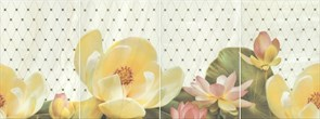 HGD/C56/4x/8261 Панно Летний сад фисташковый, панно из 4 частей 20х30 (размер каждой части) 80х30х6,