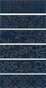 AD/B333/6x/2914 Панно Кампьелло синий, 6 частей 8,5х28,5 (размер каждой части) 51х28,5х7