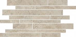 SG188/002 Бордюр Ровиго серый светлый мозаичный 50,2х25х9,5