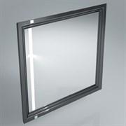 PO.mi.80\BLK  Панель с зеркалом POMPEI, 80 см черный