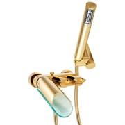 Смеситель золотой Paini Morgana 73OP105VRKM для ванны