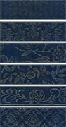 AD/B333/6x/2926  Панно Кампьелло синий 8,5х28,5 (размер каждой части)51х28,5х7