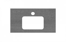 PL2.DD500600R\80 Спец. изделие для раковин, встраиваемых сверху, 80 см Про Дабл антрацит