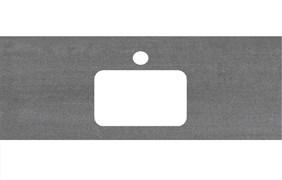 PL2.DD500600R\100 Спец. изделие для раковин, встраиваемых сверху, 100 см Про Дабл антрацит
