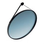 CO.mi.70\BLK Зеркало CONO 70 см, круглое с металличеким креплением к стене, цвет черный матовый