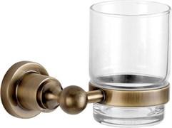 3884 Стакан стекло с держателем Aquanet, латунь (189265)