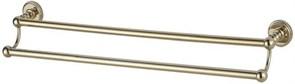 4618D Держатель для полотенца 45см двухрядный Aquanet, золото (189278)