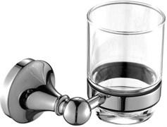 5584 Стакан стекло с держателем Aquanet, хром (187050)