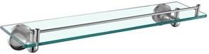 5587 Полка стеклянная 52 см настенная Aquanet, хром (187057)