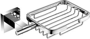 6111 Мыльница металическая прямоугольная Aquanet, хром (202106)