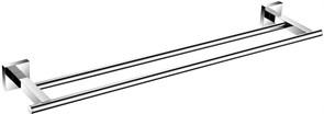 6124D Держатель для полотенца 60см двухрядный Aquanet, хром (202114)