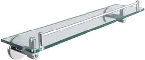 6387 Полка стеклянная 56см Aquanet, хром (202132)