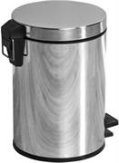 8072 Ведро для мусора 5 литров Aquanet, хром (187082)