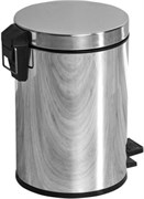 8074 Ведро для мусора 12 литров Aquanet, хром (187084)