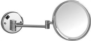 "8225 Косметическое зеркало 8""×3 с LED подсветкой подвесное Aquanet, хром (195656)"