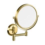 106101698 Косметическое зеркало без подсветки золото Ø133мм