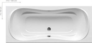 Ванна CAMPANULA II 170x75 белая