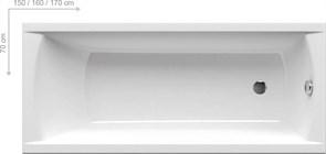 Ванна CLASSIC 160x70 N белая