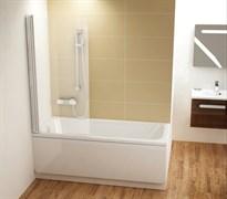 шторки для ванн CVS1-80 L  белый+стекло Transparent
