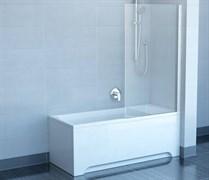 шторки для ванн CVS1-80 R  белый+стекло Transparent
