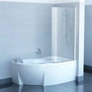 шторки для ванн CVSK1 ROSA 160/170 L белая+транспарент