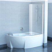 шторки для ванн CVSK1 ROSA 160/170 R блестящая+транспарент