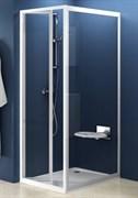 стенки душевые  PSS-75 белая+Грапе