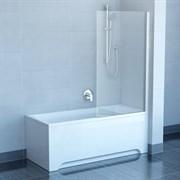 шторки для ванн PVS1-80 сатин + Транспарент