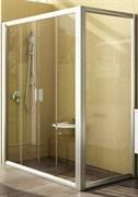 Дверь душевая Ravak RPS-100 белая+Грапе