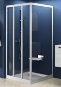 стенки душевые  APSS-90 сатин+Транспарент