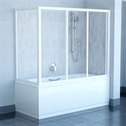 стенки душевые  APSV-80 белая+Раин