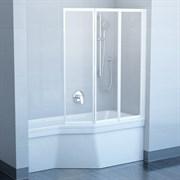 шторки для ванн VS3 100 белая + Транспарент