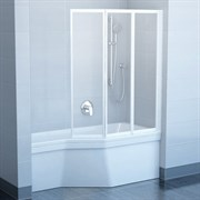 шторки для ванн VS3 115 белая + Раин