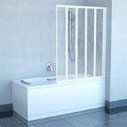 шторки для ванн VS5 белая+Раин