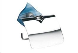 Держатель для туалетной бумаги синий Glass