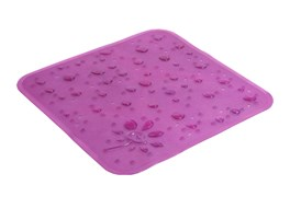 Коврик для душа Drops 53x53 см. Фиолетовый